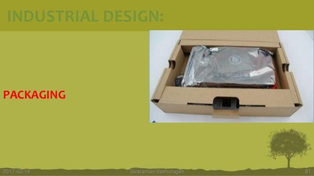PACKAGING Sivaraman Velmurugan 812017-02-14 INDUSTRIAL DESIGN: