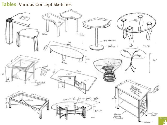 Tables: Various Concept Sketches ...