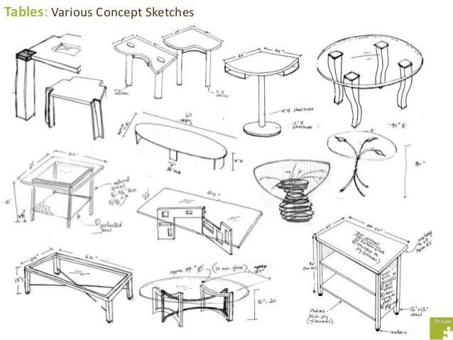 Merveilleux Tables: Various Concept Sketches ...