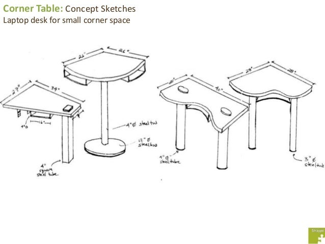Tables: Various Concept Sketches; 13.