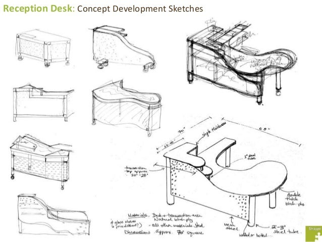 Reception Desk: Concept Development Sketches ...