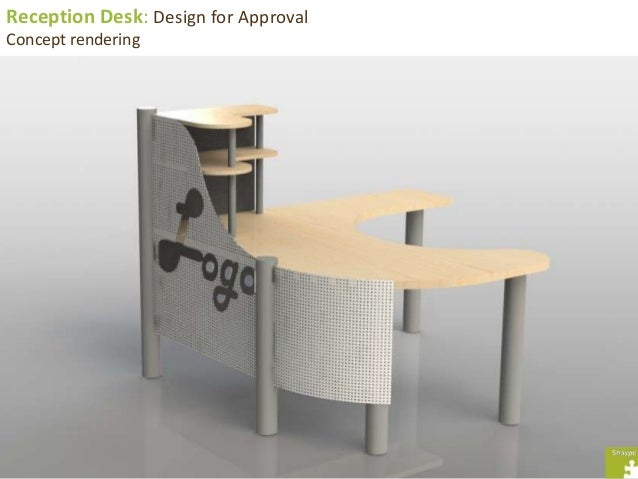 Reception Desk: Design For Approval Concept Rendering ...