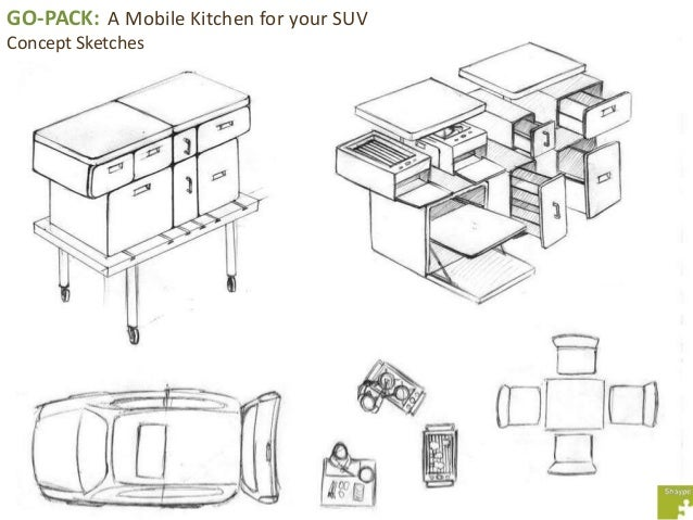 GO PACK A Mobile Kitchen For Your SUV Concept Sketches