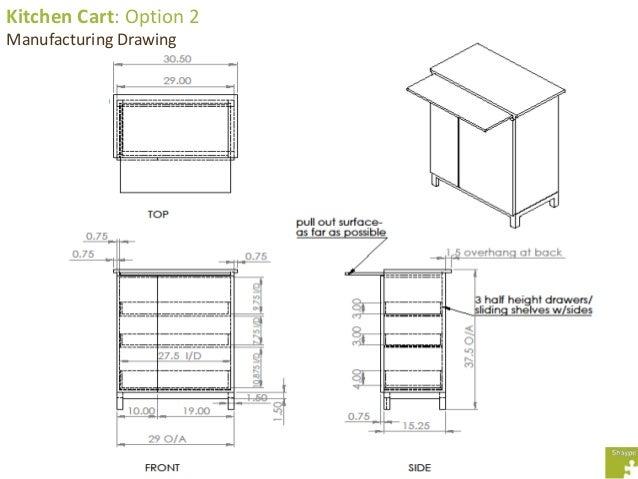 Kitchen Cart Option 2 Manufacturing Drawing