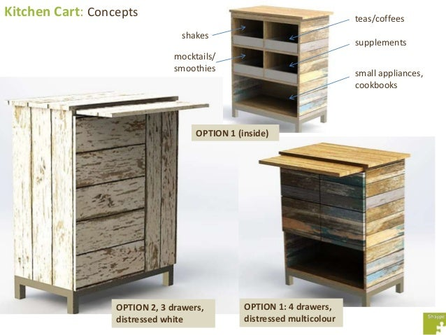 Kitchen Cart: Option 2 Manufacturing Drawing; 6.