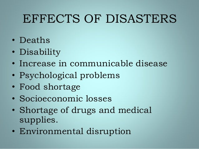disaster psychological essay