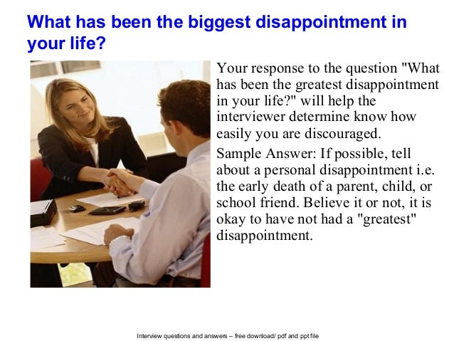biggest disappointment essay