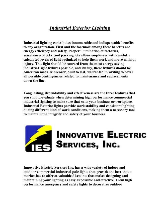 Industrial Exterior Lighting