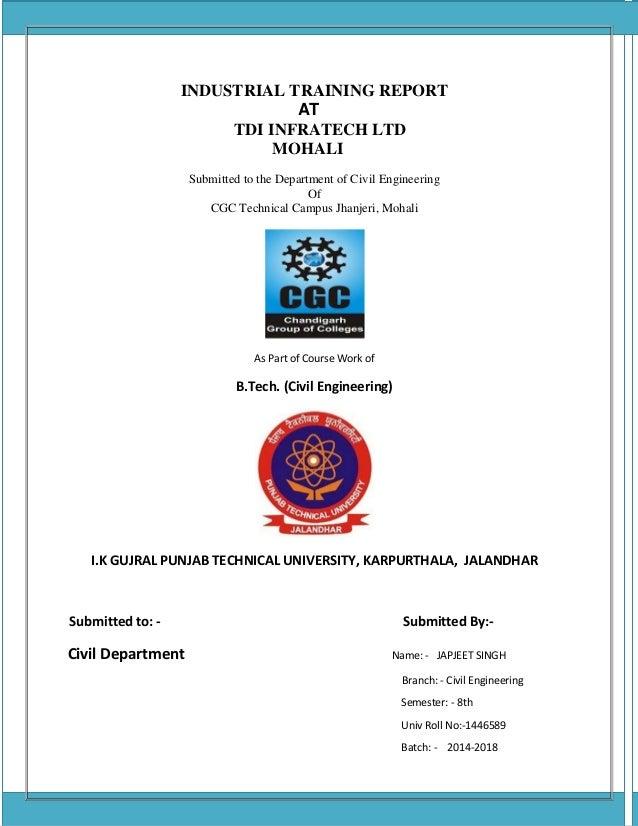 Industrial Training report Civil Engineering