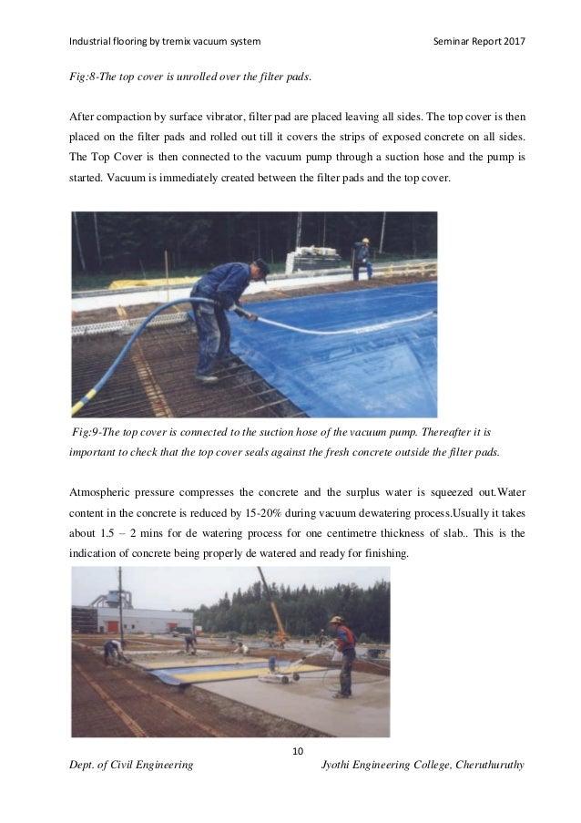 Industrial Flooring By Tremix Vacuum System
