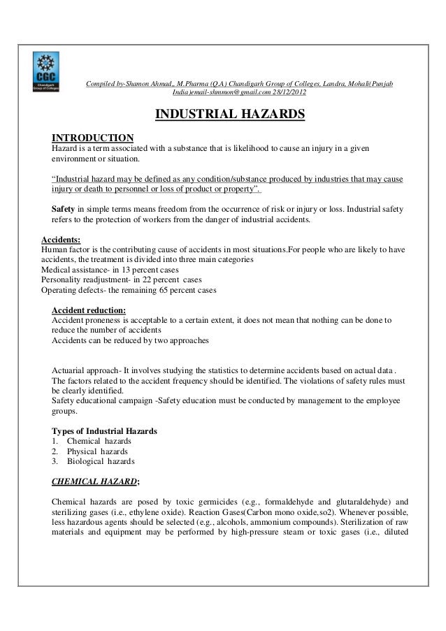 industrial hazard pdf