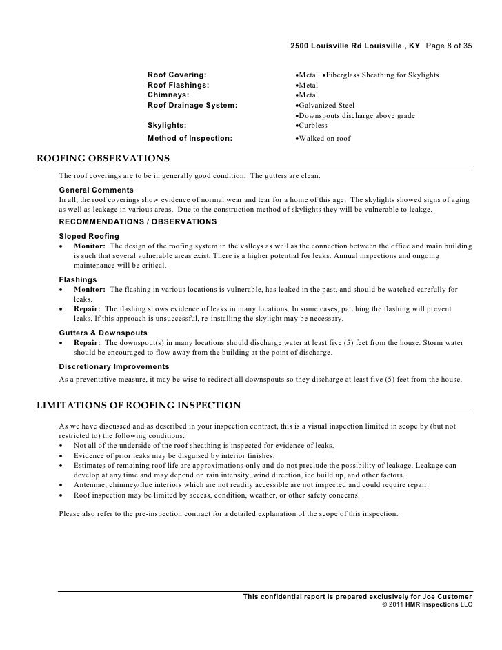 Industrial Inspection Sample Report