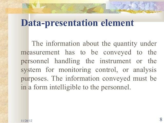 data presentation element