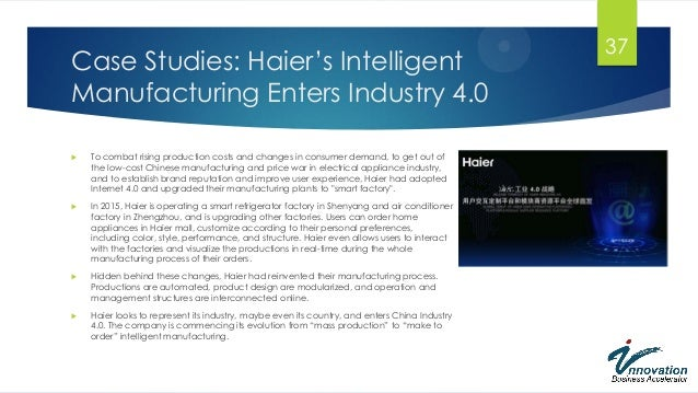 haier refrigerators case study Strategic implications of emerging chinese multinationals:: the haier case  haier's market shares of refrigerators,  can be drawn from the haier case study: 1.