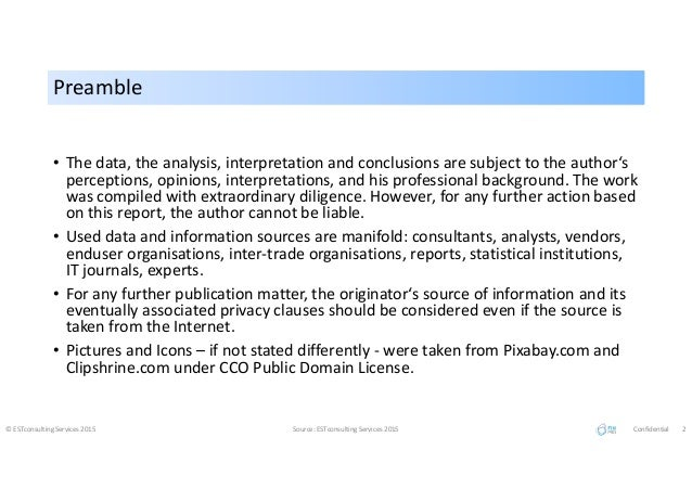 PreamblePreamble • The data, the analysis, interpretation and conclusions are subject to the author's perceptions, opinion...