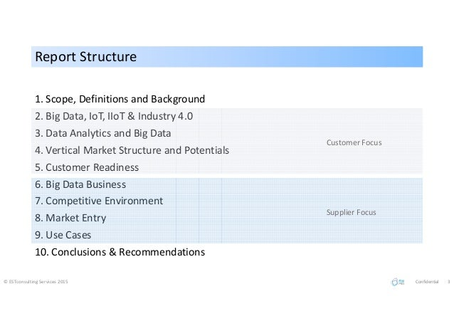 Report StructureReport Structure 1. Scope, Definitions and Background 2. Big Data, IoT, IIoT & Industry 4.0 3. Data Analyt...