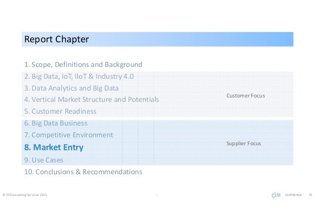Report ChapterReport Chapter 1. Scope, Definitions and Background 2. Big Data, IoT, IIoT & Industry 4.0 3. Data Analytics ...