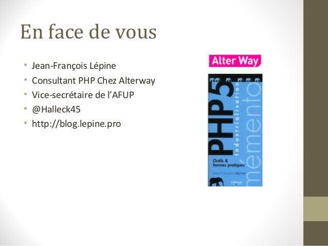 Industrialiser le contrat dans un projet PHP Slide 2