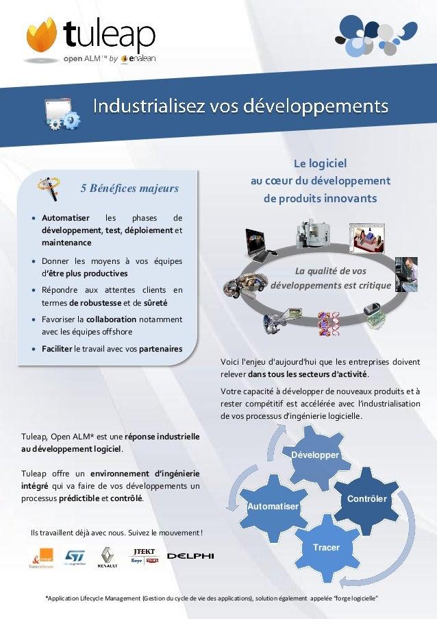 Tuleap, Open ALM* est une réponse industrielle au développement logiciel. Tuleap offre un environnement d'ingénierie intég...