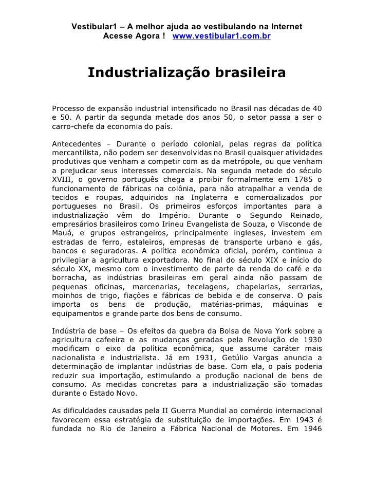 Vestibular1 – A melhor ajuda ao vestibulando na Internet             Acesse Agora ! www.vestibular1.com.br             Ind...