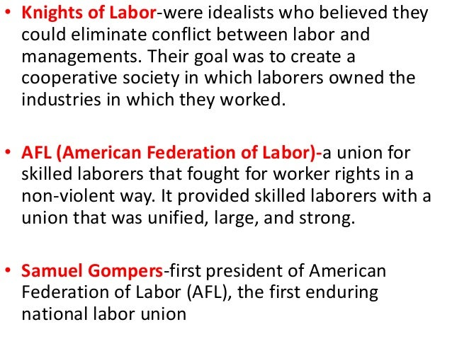 knights of labor essay An essay or paper on history american labor unions the first large national labor organization to become popular was the noble and holy order of the knights of labor.