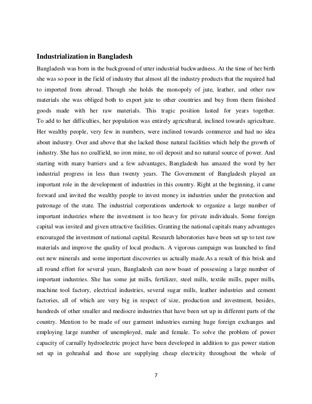 essay about industrialisation