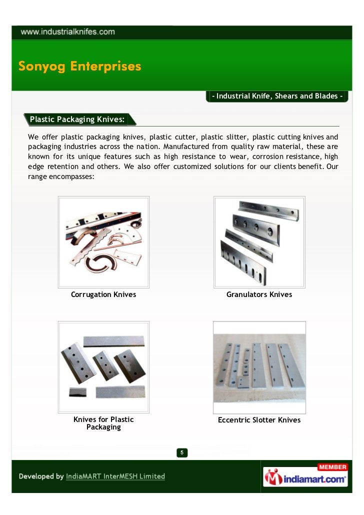- Industrial Knife, Shears and Blades -Plastic Packaging Knives:We offer plastic packaging knives, plastic cutter, plastic...
