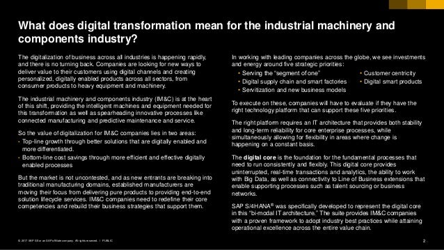 Industrial Machinery Digital Industry Podcast Slide 2