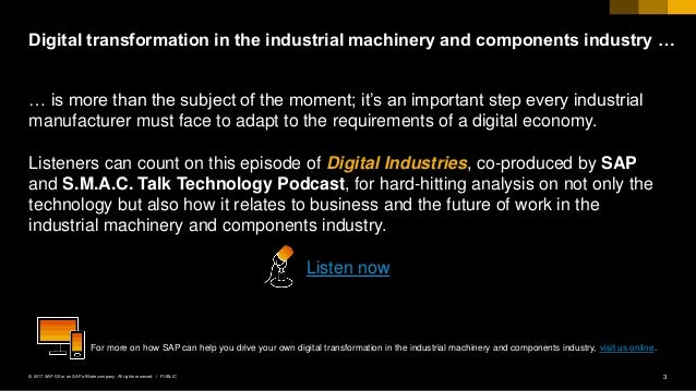 Industrial Machinery Digital Industry Podcast Slide 3