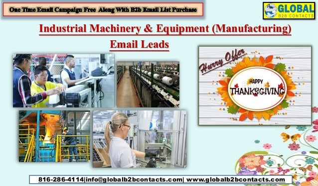 Industrial machinery & equipment (manufacturing) email leads