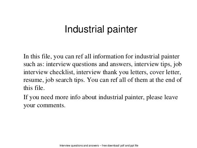 painters resume examples
