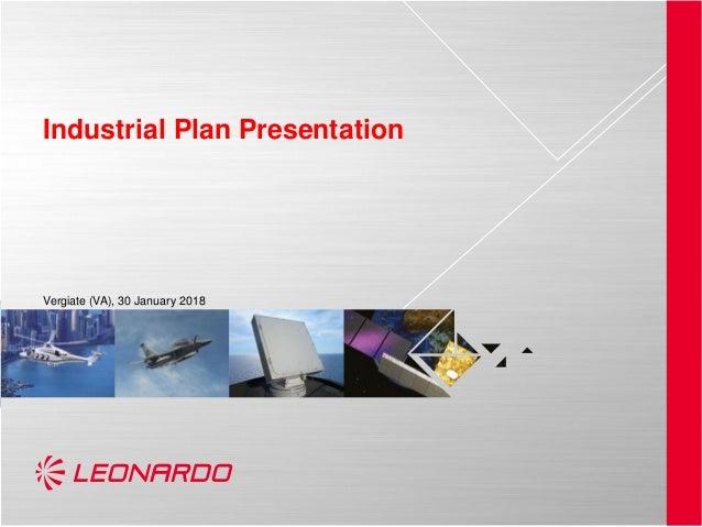 Industrial Plan Presentation Vergiate (VA), 30 January 2018