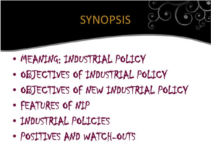 Industrial policy,1991 Slide 2