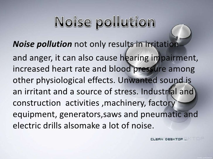 Essay about noise pollution