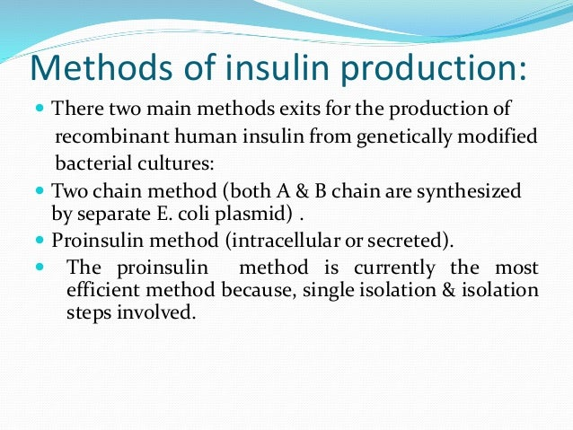 industrial production of insulin