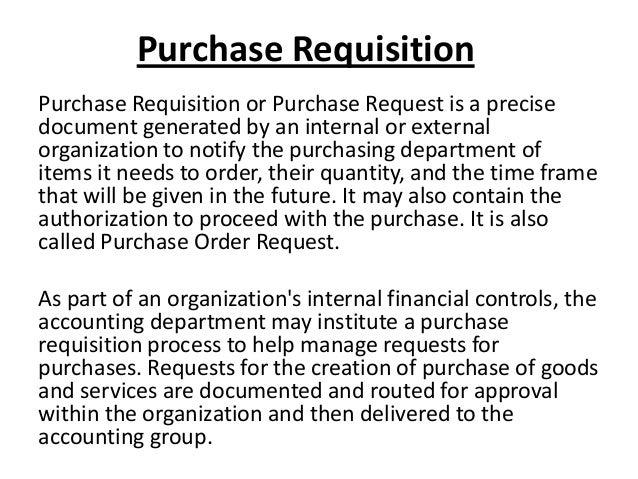 purchasing order letter sample