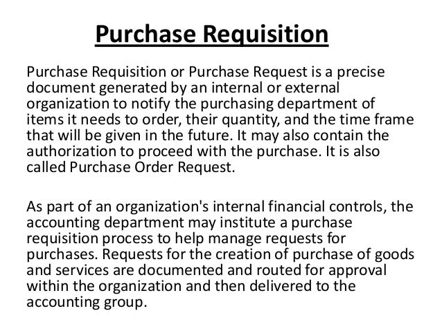 Purchase Requisition ...  Purchase Requisition Letter