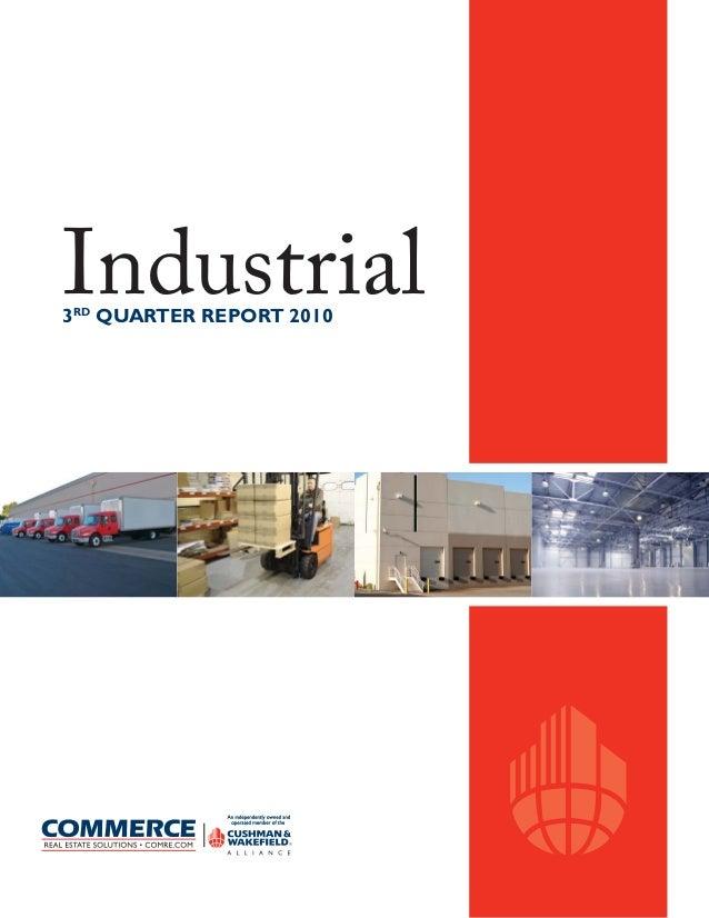 Industrial3RD QUARTER REPORT 2010