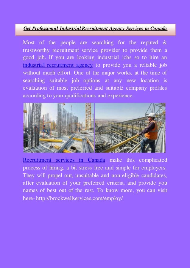 Get Professional Industrial Recruitment Agency Services in