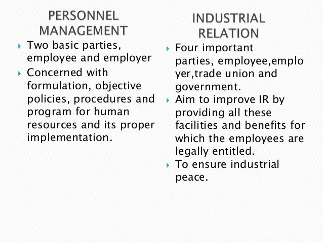    Two basic parties,            Four important    employee and employer          parties, employee,emplo   Concerned w...