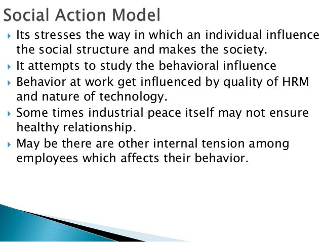    Its stresses the way in which an individual influence    the social structure and makes the society.   It attempts to...