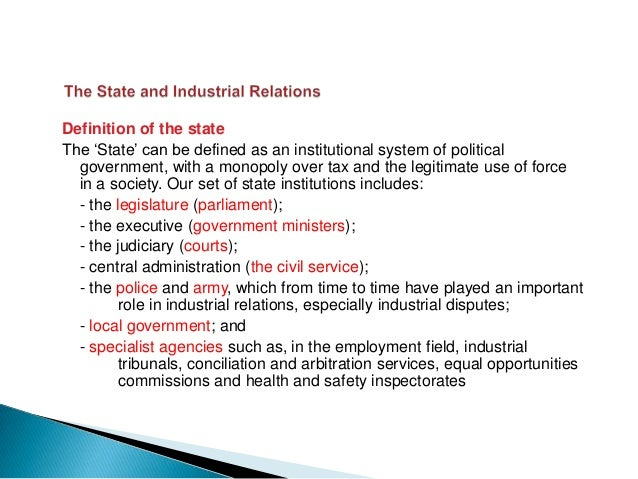 The way political power is distributed and used in industrial relations can   be seen through four different theories of s...