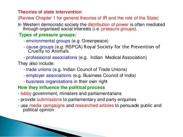 Diagram of 'Pluralist' view of democratic political processes Organised  Social                                           ...
