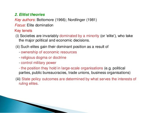 3. Marxist theoriesKey authors: Miliband (1969); O'Connor (1973)Focus: Class divisionsKey tenets(i) In advanced capitalist...
