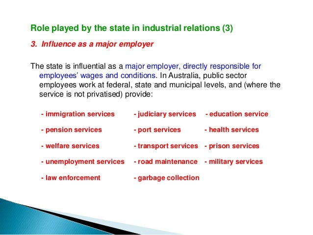 industrial relation The relationship between employer and employee or trade unions is called industrial relation (ir) harmonious relationship is necessary for both employers.