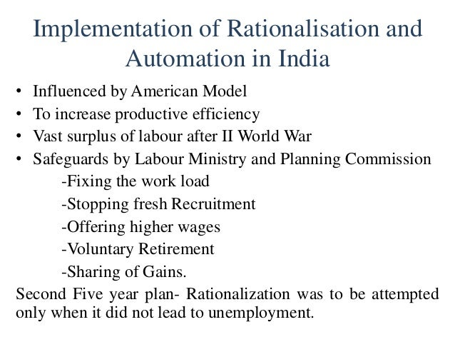 techniques of rationalisation for efficiency and control How they operate the machine may cut down on the machines' efficiency time-and-  however, these techniques and approaches are more the administrator's puzzle than.