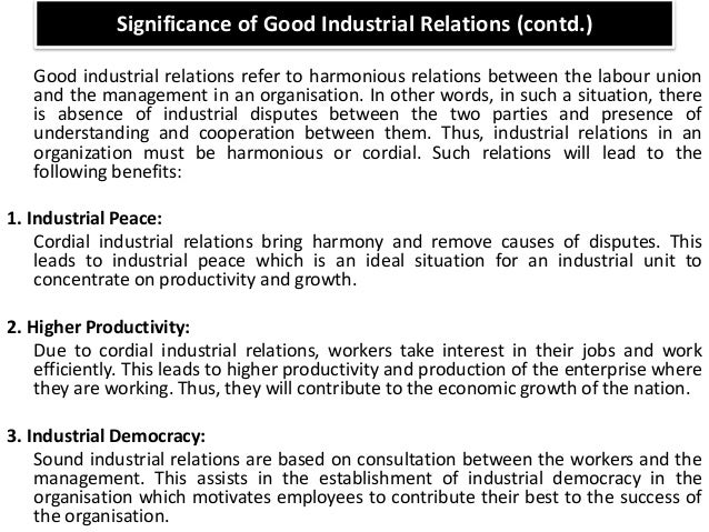 Management Of Industrial Relations Essay Sample