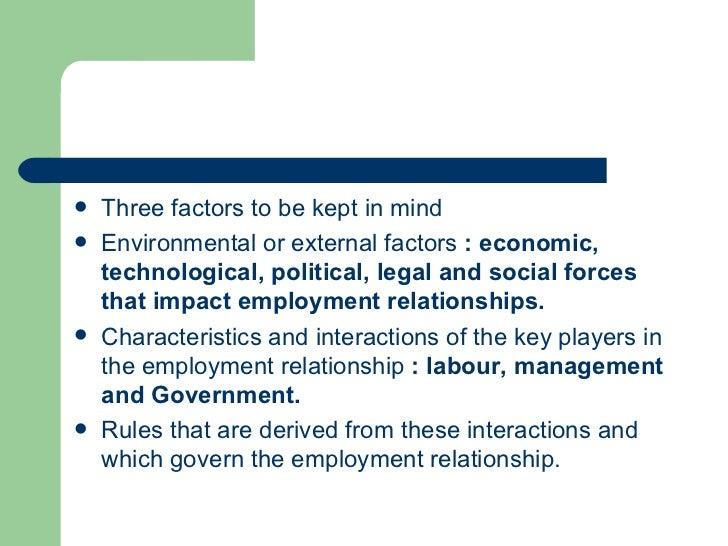 employment relationship factors