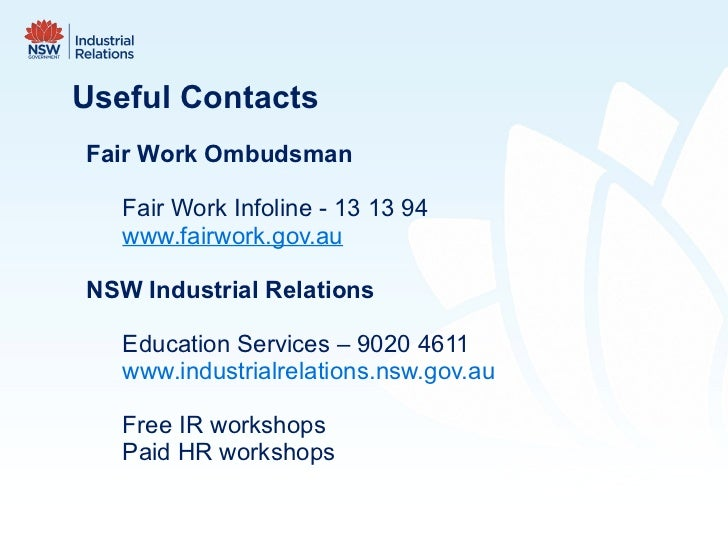 enterprise industrial relations What workplace system are you covered by the south australian public and local government sectors, including almost all government business enterprises, are subject to the state fair work.