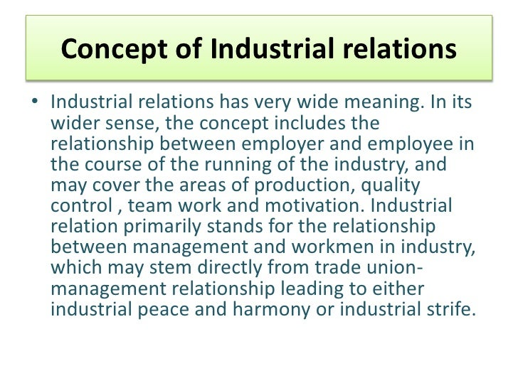 industrial relations harmony thesis Ilr school theses and dissertations: a listing keywords ilr school, new york state school of industrial and labor relations, thesis, theses, dissertations, graduate.